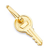 Traditional Key Pendant in 14K Yellow Gold - Mini
