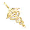 Winged Caduceus Pendant in 14K Yellow Gold - Medical, Commerce