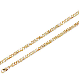 d1478a9b7aa46 5mm 14K Yellow Gold Men's Yellow Pave Concave Curb Link Chain Necklace  18-24in