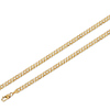 5mm 14K Yellow Gold Men's Yellow Pave Concave Curb Link Chain Necklace 20-24in
