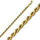 2.5mm 14K Yellow Gold Diamond-Cut Rope Chain Necklace - Heavy 18-24in thumb 0