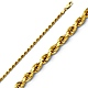 2mm 14K Yellow Gold Diamond-Cut Rope Chain Necklace - Heavy 16-24in thumb 0