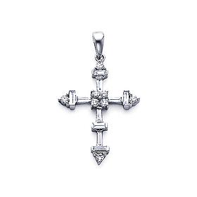 Arrow edged medium round baguette diamond cross pendant in 18k imagesproductcharmsldp0110gm diamond cross pendant medium 18k white goldgjsessionidb1b582ec3c8089f1bef7b1483aa407b2 aloadofball Gallery