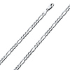 4.5mm Sterling Silver Figaro Link Chain Bracelet 7in