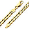8mm 14K Yellow Gold Men's Concave Curb Cuban Link Chain Necklace 22-26in