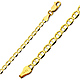3.5mm 14K Yellow Gold Flat Mariner Link Chain Bracelet 7in thumb 0