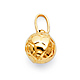 Soccer Ball Charm Pendant in 14K Yellow Gold - Mini thumb 0