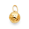 Soccer Ball Charm Pendant in 14K Yellow Gold - Mini