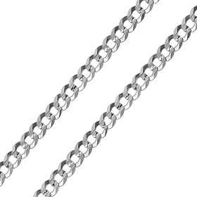 7mm Sterling Silver Men's Curb Cuban Link Chain Necklace 20-30in