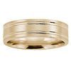 6mm Flat Striped Comfort Fit 14K Yellow Gold Benchmark Ring