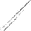 3mm Sterling Silver Men's Concave Curb Cuban Link Chain Necklace 16-30in