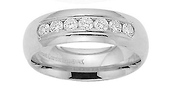 6mm Platinum Channel Diamond Comfort Fit Ring