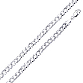 4mm Sterling Silver Men's Curb Cuban Link Chain Necklace 16-30in