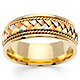 8.5mm Handmade Rope & Tricolor Braided Men's Wedding Band - 14K Yellow Gold thumb 0