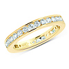 14K Yellow Gold 1ctw Channel Set Round Diamond Eternity Ring