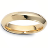 4mm Knife-Edge Comfort-Fit Wedding Band in 14K Yellow Gold by Dora Rings