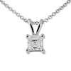 0.25ct Asscher Cut 4 Prong Solitaire Pendant
