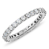 14K White Gold 1-Carat TW Prong Diamond Eternity Ring