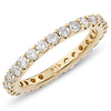 14K Yellow Gold 1.00ctw Pave Set Round Cut Diamond Eternity Ring