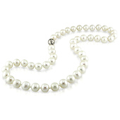 9-10mm Freshwater Pearl Necklace with Silver Ball Clasp