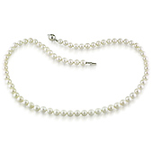 6-7mm Freshwater Pearl Necklace with Silver Ball Clasp