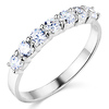 7-Stone Cubic Zirconia CZ Wedding Band in 14K White Gold 0.7ctw