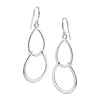 Silver Hook Earrings, shepherd hook backs