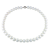 10-11mm Freshwater Pearl Necklace with Silver Ball Clasp