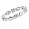 10K White Gold Art Deco Diamond Eternity Ring 0.20ctw