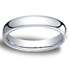 4.5mm Euro Comfort-Fit Flat Classic Wedding Band - Palladium