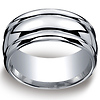 10mm Argentium Silver Comfort Fit High Polished Benchmark Ring