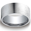 10mm Argentium Silver Comfort Fit Satin Finished Benchmark Ring
