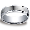 7mm Argentium Silver Satin Finished Benchmark Wedding Band