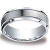 7mm Argentium Silver Satin Finished Milgrain Benchmark Ring