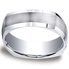 7mm Argentium Silver Four Sided Benchmark Band