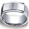10mm Argentium Silver Four Sided Benchmark Band