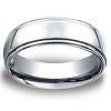 7mm Cobaltchrome High Polished Raised Center Benchmark Wedding Band