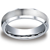 6mm Beveled Polished Edge Satin Cobaltchrome Wedding Ring