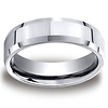 7mm Cobaltchrome High Polished Beveled Edge Comfort-Fit Men's Ring