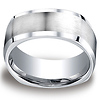 9mm Cobaltchrome Four Sided Satin Center Wedding Band