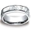 7mm Cobaltchrome Hammered Finished Design Wedding Ring