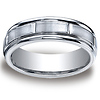 7mm Cobaltchrome Satin Center Round Edge Wedding Band