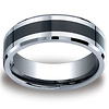 7mm Men's Black Ceramic Inlay Benchmark Cobaltchrome Ring