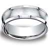 7.5mm Satin Cobaltchrome Concave Comfort-Fit Wedding Band