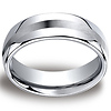 7.5mm Cobaltchrome Satin Center Comfort-Fit Wedding Ring