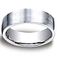 7.5mm Cobaltchrome Satin Flat Design Comfort-Fit Wedding Band thumb 0