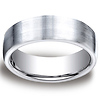 7.5mm Cobaltchrome Satin Flat Design Comfort-Fit Wedding Band