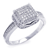 Sterling Silver Micro Pave CZ Engagement Ring
