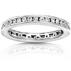 14K White Gold 0.55 CTW Round Diamond Channel Set Eternity Band