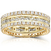 14K Yellow Gold 3-Piece Channel 2CTW Round Diamond Eternity Band Set